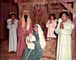 Students perfoming in a Christmas nativity play